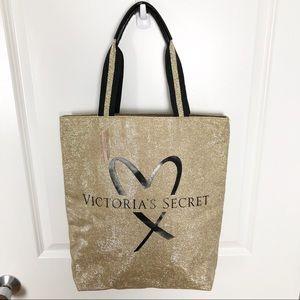 Victoria's Secret | NWT Gold Sparkle Heart Tote G2